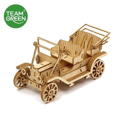 Picture of Classic Car Phone Stand 3D Plywood Puzzle - Team Green® JIGZLE®