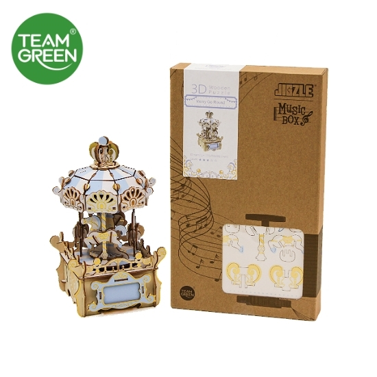 Icubi Mall – Merry-Go-Round Color Music Box 3D Plywood Puzzle