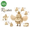 Picture of Rooster (6 facial expressions) 3D Plywood Puzzle - Team Green® JIGZLE®