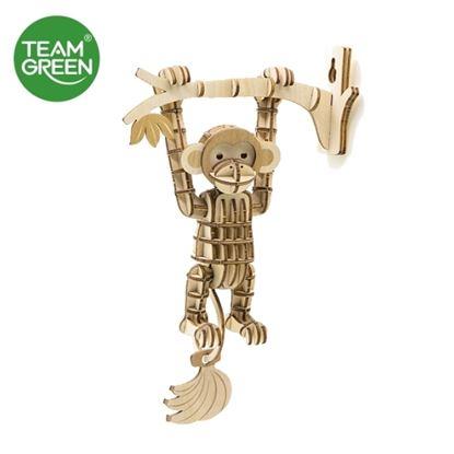图片 猴子 3D 立体木拼图 - Team Green® JIGZLE®