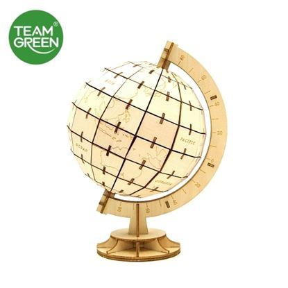 圖片 地球儀 3D 立體木拼圖 - Team Green® JIGZLE®