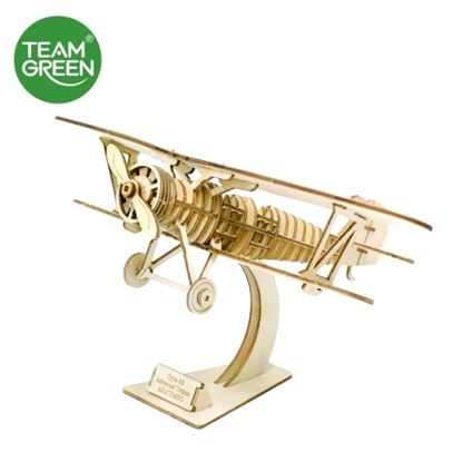 Picture of Biplane 3D Plywood Puzzle - Team Green® JIGZLE®