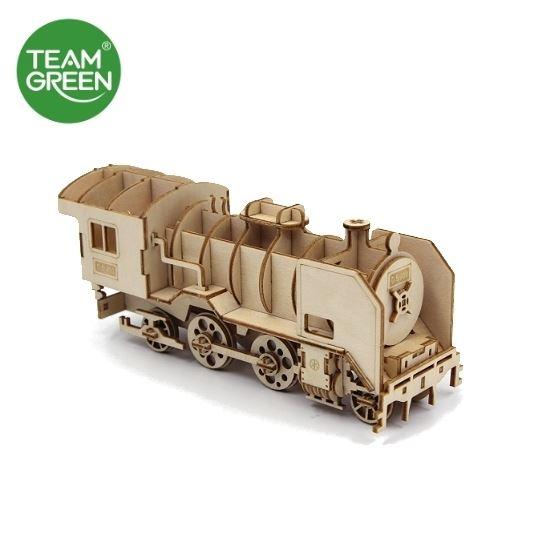 圖片 D51200火車頭 3D 立體木拼圖 - Team Green® JIGZLE®