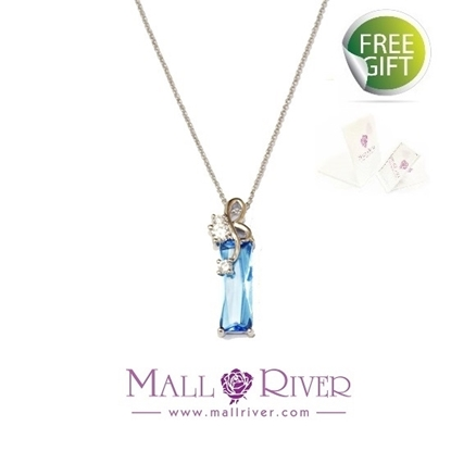 Picture of Mall River Blue Note on Piano Necklace