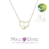 Picture of Mall River Golden Necklace with Lucky Heart
