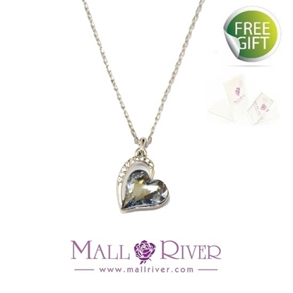 Picture of Mall River Heart with Semi Spots Edge Necklace