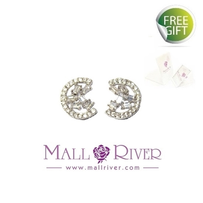Picture of Mall River Spots in Meniscus Earrings