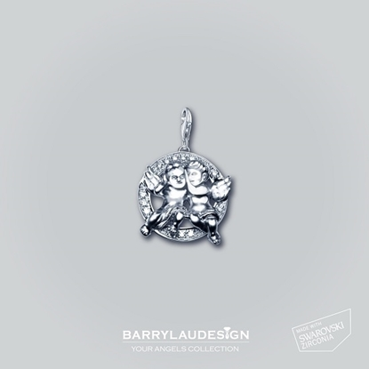 Picture of Barry Lau Design - 'Best Friend Angels' Charm