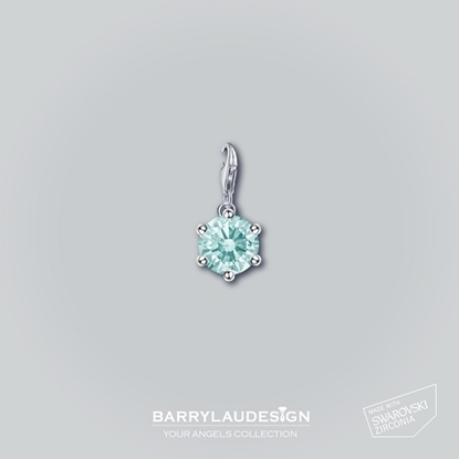 Picture of Barry Lau Design - 'Crown Setting' charm (FROST MINT)
