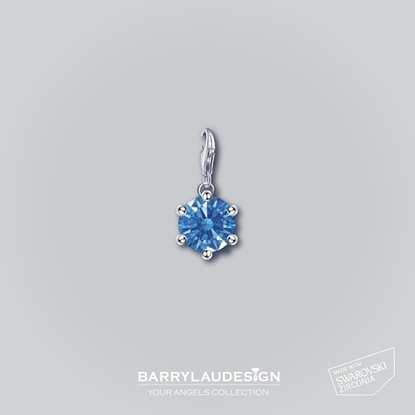 Picture of Barry Lau Design - 'Crown Setting' charm (BLUE)