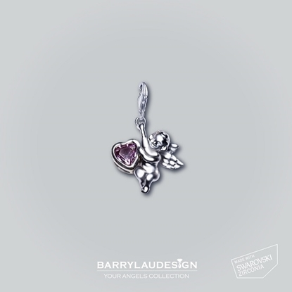 Picture of Barry Lau Design - 'Give Heart Angel' Charm (PURPLE)