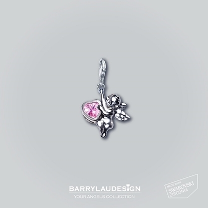 Picture of Barry Lau Design - 'Give Heart Angel' Charm (PINK)