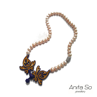 "Picture of Anita So ""Shanghai Renaissance"" Necklace (Purple & Yellow)"