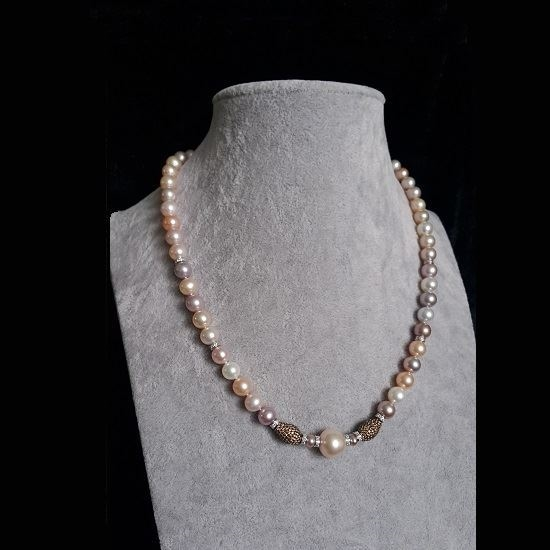 Picture of Anita So Fancy Pearl Necklace (multi colour pearl)