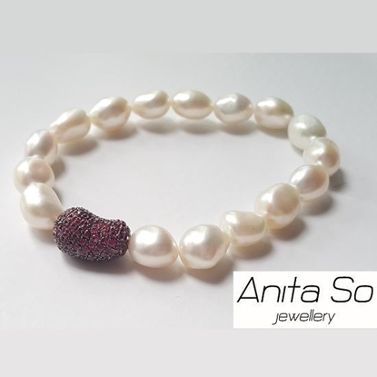 "Picture of Anita So ""Seed"" - Ruby with Freshwater Pearl Bracelet (C)"