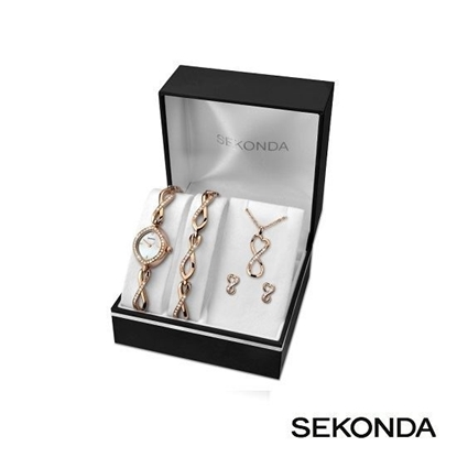 Picture of Sekonda Ladies Watch Gift Set (with matching pendant, bracelet & earrings)