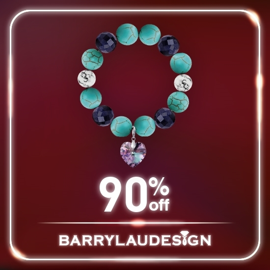 Picture of Barry Lau Design - Swarovski Crystal Charm Bracelet