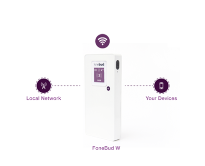Picture of Fonebud W - International 4G WiFi Hotspot & Charger