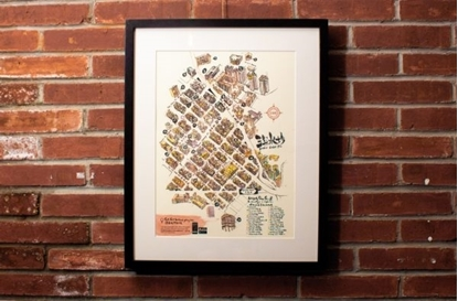 Picture of SHAM SHUI PO MAP PRINT